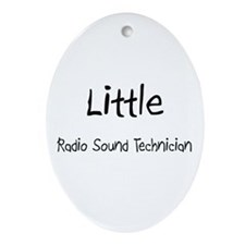 Little Radio Sound Technician Oval Ornament