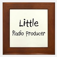 Little Radio Producer Framed Tile