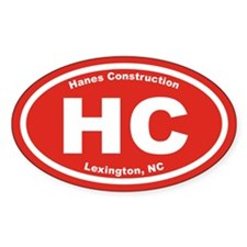 Hanes Construction HC Euro Oval Sticker (10 pk)