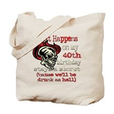 Drinking 40th Tote Bag