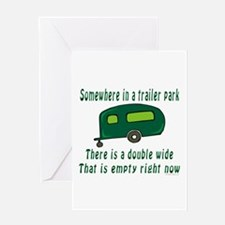 Empty Double Wide Greeting Card