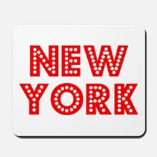Retro New York (Red) Mousepad