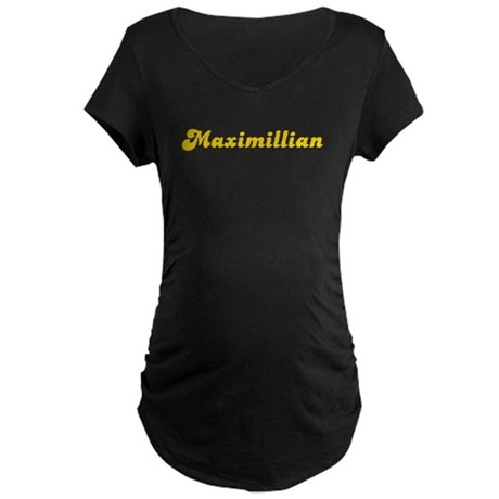 Retro Maximillian (Gold) Maternity Dark T-Shirt