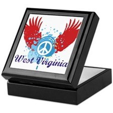 West Virginia Peace Keepsake Box