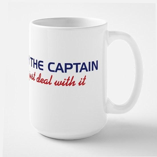 I'm The Captain, Just Deal Wi Large Mug