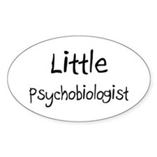Little Psychobiologist Oval Decal