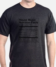 House Music Nutrition Facts Charcoal T-Shirt