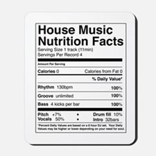 House Music Nutrition Facts Mousepad