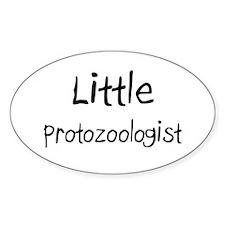 Little Protozoologist Oval Sticker