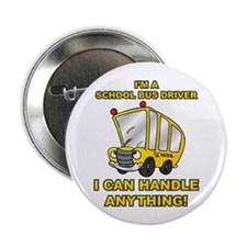 "School Bus Driver 2.25"" Button"