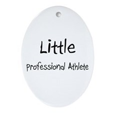 Little Professional Athlete Oval Ornament