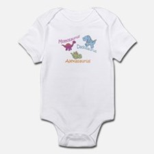 Mom, Dad, & Alexaosaurus Infant Bodysuit