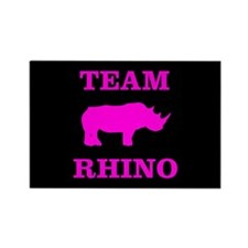 Team Rhino Shirt Rectangle Magnet (10 pack)