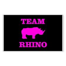 Team Rhino Shirt Rectangle Decal