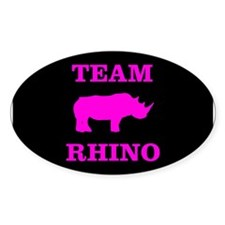 Team Rhino Shirt Oval Sticker (50 pk)
