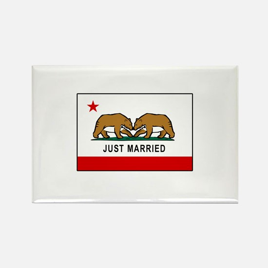 California Gay Marriage Rectangle Magnet