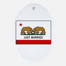 California Gay Marriage Oval Ornament