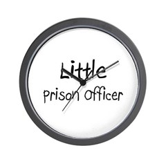 Little Prison Officer Wall Clock