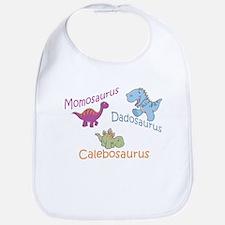 Mom, Dad, & Calebosaurus Bib