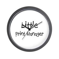 Little Print Manager Wall Clock