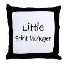 Little Print Manager Throw Pillow