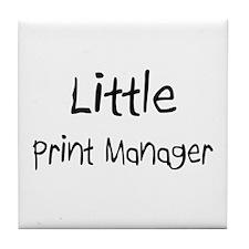 Little Print Manager Tile Coaster
