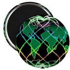 NIGHT Black Rainbow Planet Holon Magnet