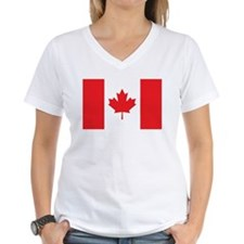 CANADA Womens V-Neck T-Shirt
