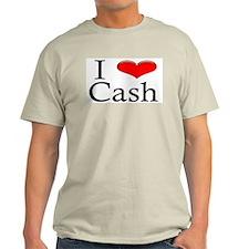 I Heart Cash Ash Grey T-Shirt