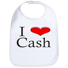 I Heart Cash Bib