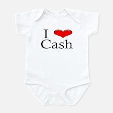 I Heart Cash Infant Creeper