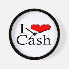 I Heart Cash Wall Clock