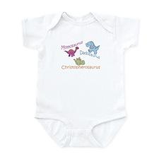 Mom, Dad, & Christopherosauru Infant Bodysuit