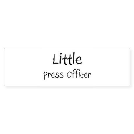 Little Press Officer Bumper Sticker