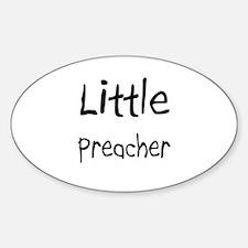 Little Preacher Oval Decal