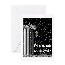 Snowy Lemming Greeting Card