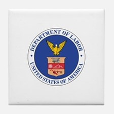 DEPARTMENT-OF-LABOR-SEAL Tile Coaster
