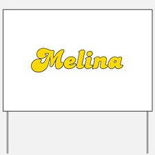 Retro Melina (Gold) Yard Sign