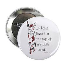Paint Horse Lover Button