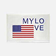 MY LOVE AMERICA Rectangle Magnet