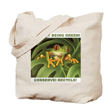 """""""Conserve! Recycle!"""" Tote Bag"""