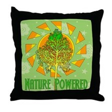 Nature Powered Throw Pillow