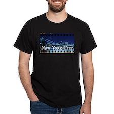 Blue Brooklyn Bridge T-Shirt
