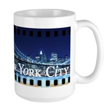 Blue Brooklyn Bridge Mug