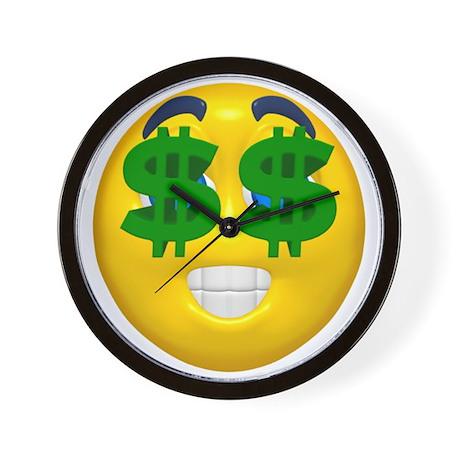 Dollar Emoticon Wall Clock