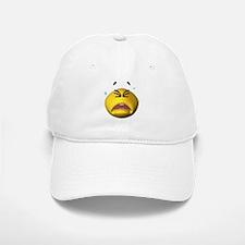 Crying Emoticon Baseball Baseball Cap