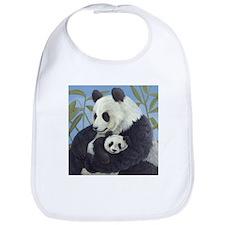 Cuddly Pandas Bib