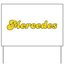 Retro Mercedes (Gold) Yard Sign