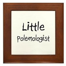 Little Polemologist Framed Tile