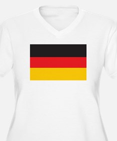 GERMANY Womes Plus-Size V-Neck T-Shirt